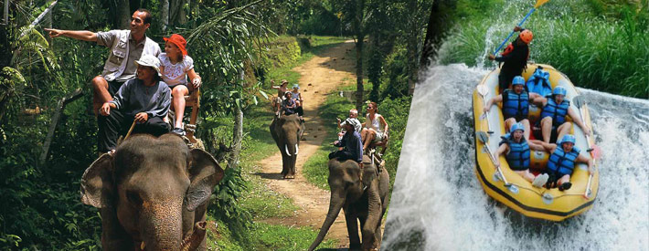 telaga waja rafting and elephant safari ride